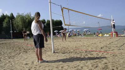 """Il Match Point della Finale Femminile: Ubertini Valentini - Paradisi Pacube - Torneo Beach Volley dell'Umbria 2013, """"La Marangola Sports Beach"""" Castiglione del Lago PG"""