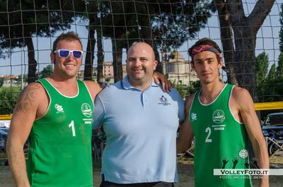 """Primi Classificati: Emanuele Mariani e Stefano Vetro - Torneo Beach Volley dell'Umbria 2013, """"La Marangola Sports Beach"""" Castiglione del Lago PG"""