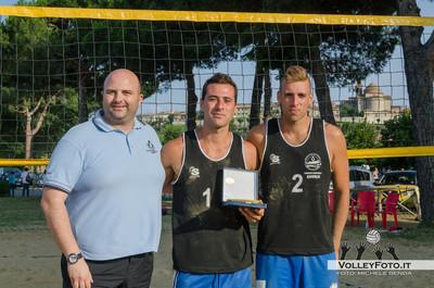 """Secondi Classificati: Mattia Mosca - Francesco Terranova - Torneo Beach Volley dell'Umbria 2013, """"La Marangola Sports Beach"""" Castiglione del Lago PG"""
