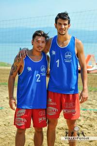 Gianluca Iaccarino - Marco Cascianelli - Torneo Beach Volley dell'Umbria 2013, La Marangola Sport Beach Castiglione del Lago PG