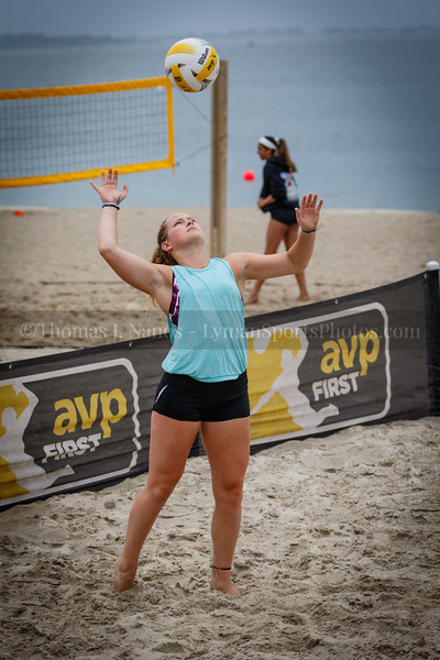 Sim/Berwitz in the 2019 AVPFirst New England Zonal Beach Volleyball Tournament - Day 2 (Playoffs and Consilation Round).  Ocean Beach Park, New London, Connecticut.