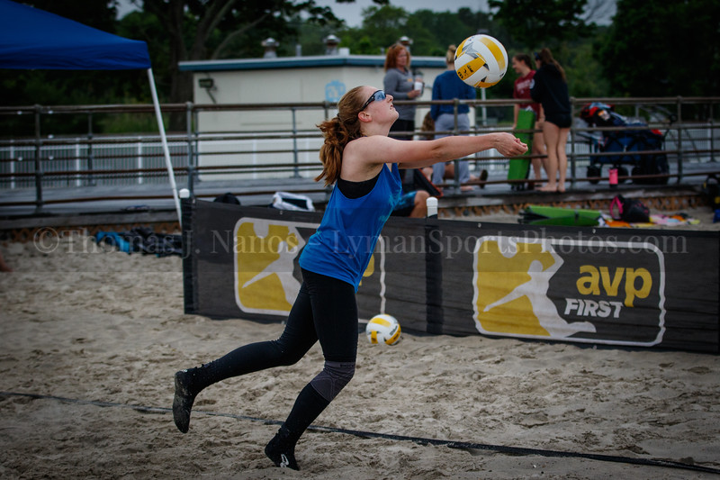 Katina and Kate in the 2019 AVPFirst New England Zonal Beach Volleyball Tournament - Day 2 (Playoffs and Consilation Round).  Ocean Beach Park, New London, Connecticut.