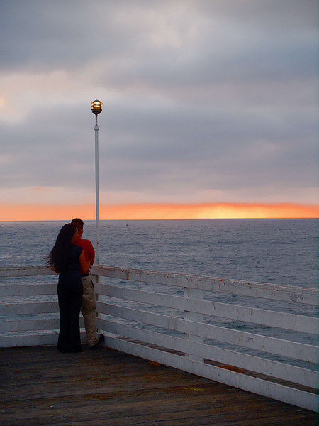 Crystal Pier Sunset, Couple, Pacific Beach, California