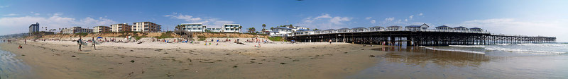 North Pacific Beach to North Mission 6-25-2006<br /> This is a series of 18 panoramas from north to south.<br /> Were you there? Do you see yourself?<br /> <br /> 8 of 18 North to South<br /> <br /> Crystal Pier from the north.<br /> <br /> Use size 'O' to select full size panorama.