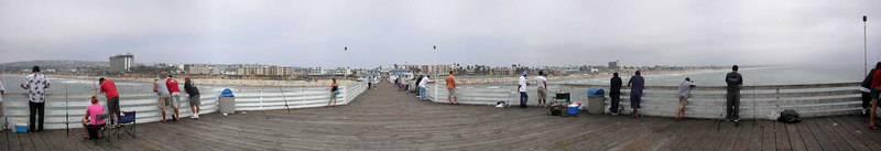 Crystal Pier Fishermen<br /> <br /> Use size 'O' to view full size panorama.