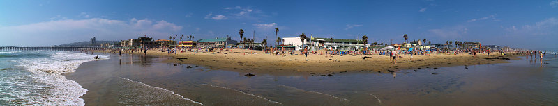 North Pacific Beach to North Mission 6-25-2006<br /> This is a series of 18 panoramas from north to south.<br /> Were you there? Do you see yourself?<br /> <br /> 13 of 18 North to South<br /> <br /> Crystal Pier from the south.<br /> Lifeguard Tower 23<br /> <br /> Use size 'O' to see full size panorama.
