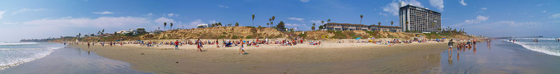 Notrh Pacific Beach to North Mission 6-25-2006<br /> This is a series of 18 panoramas from north to south.<br /> Were you there? Do you see yourself?<br /> <br /> 4 of 18 North to South<br /> <br /> Use size 'O' to select full size panorama.