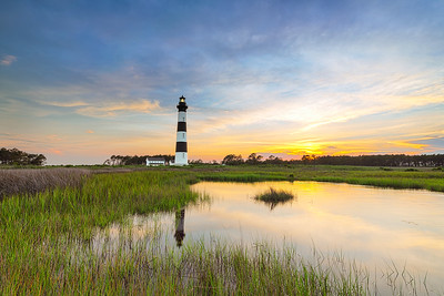 Setting Sun at Bodie Island Lighthouse