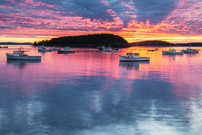 Dawn Light Show Over Bar Harbor