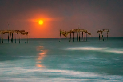 Carolina Moon and Frisco Pier