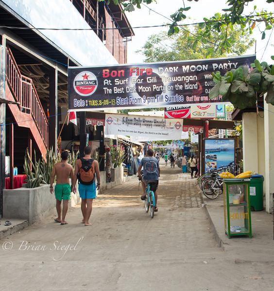 Gili Trawangan, Indonesia. Main Street.
