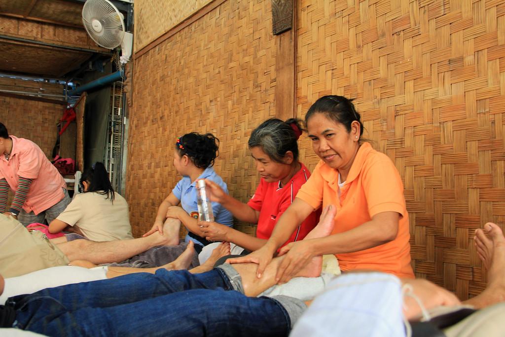 Massage at the Weekend Market