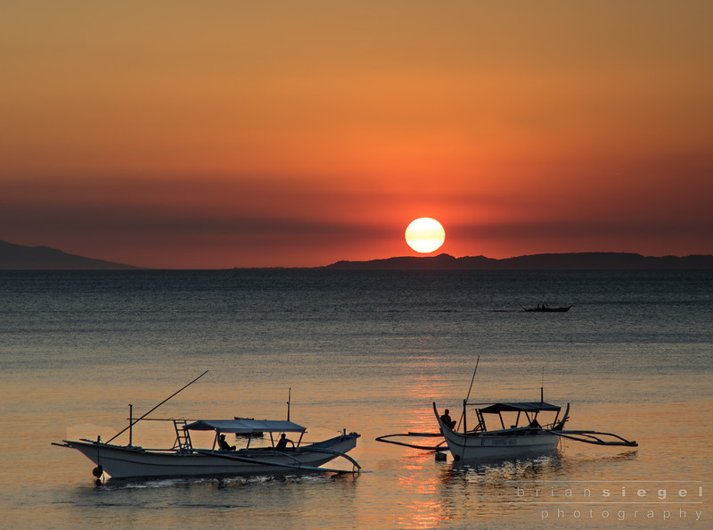 Sunset in Anilao shot with my Canon 7D