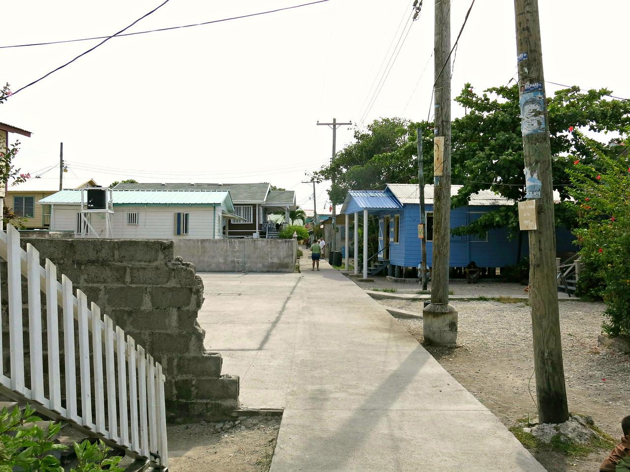 Main Street Utila Cays.