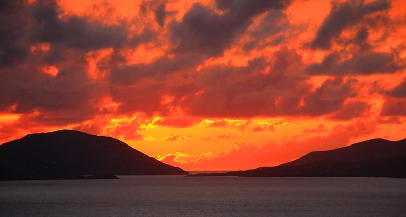 Sunset from Virgin Gorda, B.V.I.