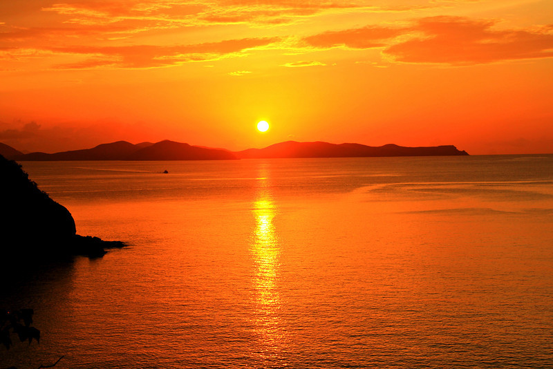 Sunset View from The Spa at Little Dix Bay, Virgin Gorda, BVI