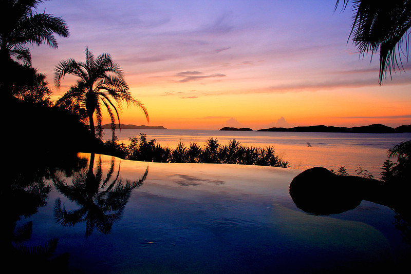Sunset View from the Spa at Little Dix Bay Virgin Gorda, BVI