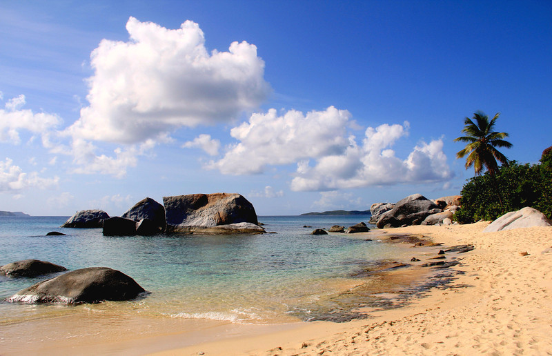 The Beach at the Baths. Virgin Gorda, B.V.I.