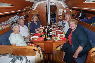 Dinner Aboard Wind Wizard, with Friends