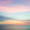 Abstract sunset sky and ocean nature background.