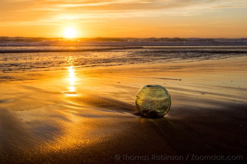 Oregon Coast Glass Ball at Sunset
