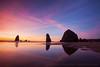 Haystack Rock Brilliant Sunset