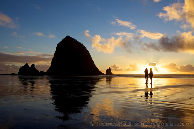 Sun Glow Sunset Couple