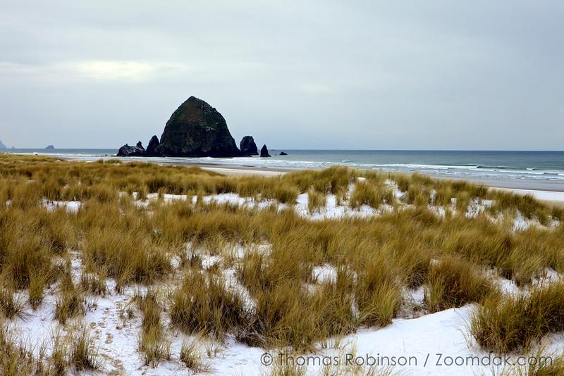 Snow on the Beach - Cannon Beach, Oregon