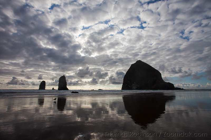 Cloud Patterns Over Haystack Rock