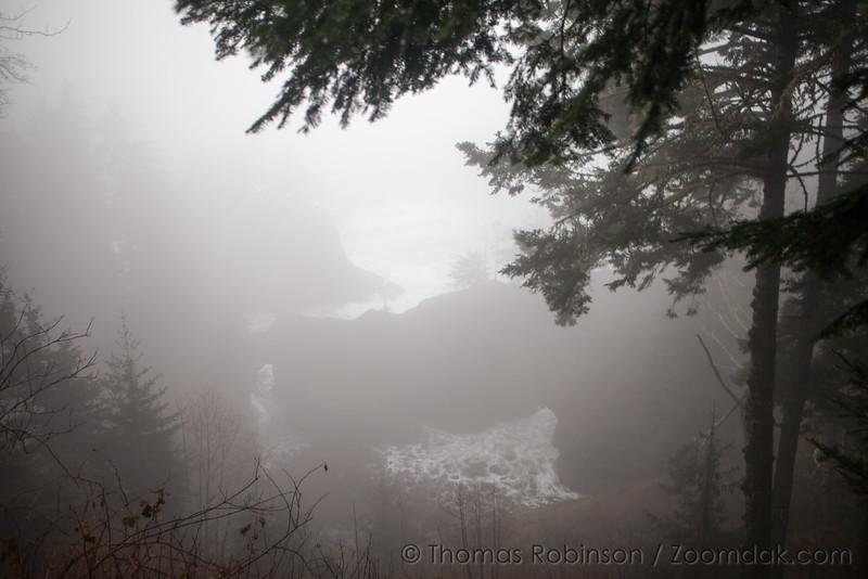 Samuel Boardman Arch View in the Fog