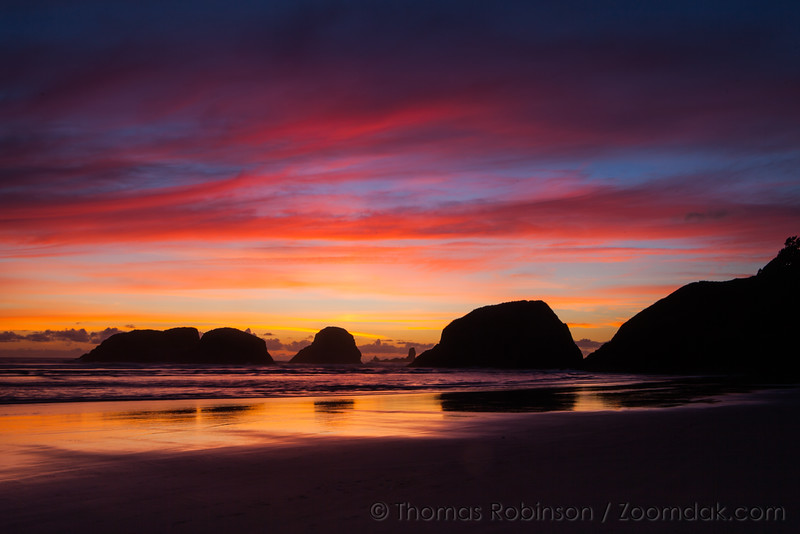 Vibrant Colors Over Cannon Beach, Oregon