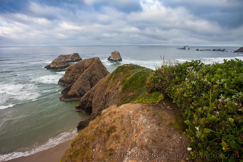 Epic Seascape Above Murre Rocks, Oregon Coast