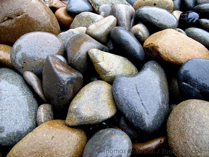 Ruby Beach Heart Stone