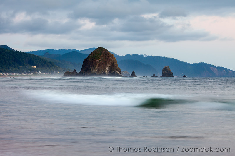Evening Tide with Haystack Rock