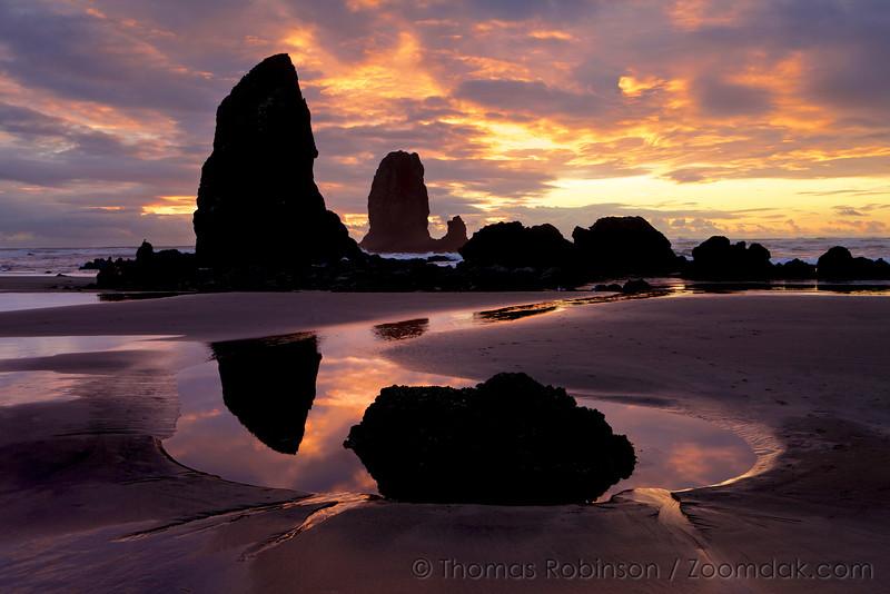 Reflected Beach Sunset