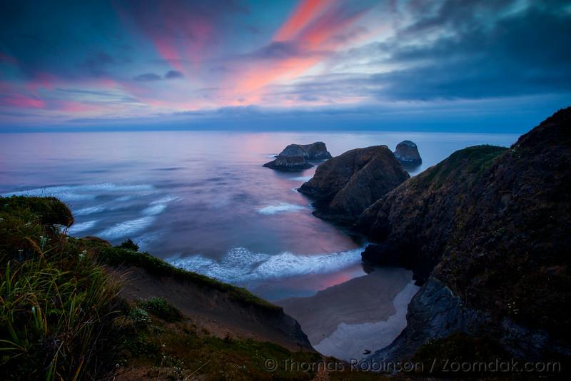 Stellar Sunset Over Seastacks