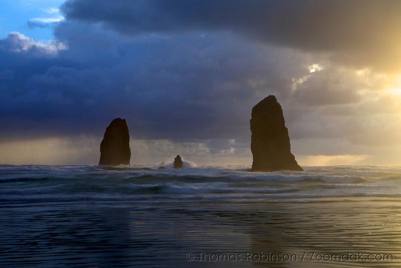 Epic Sunset Needles Seascape