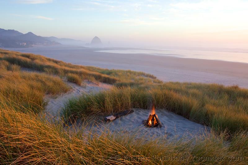 Cannon Beach Bonfire, Oregon Coast