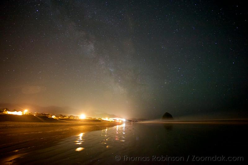 Milky Way Above Cannon Beach