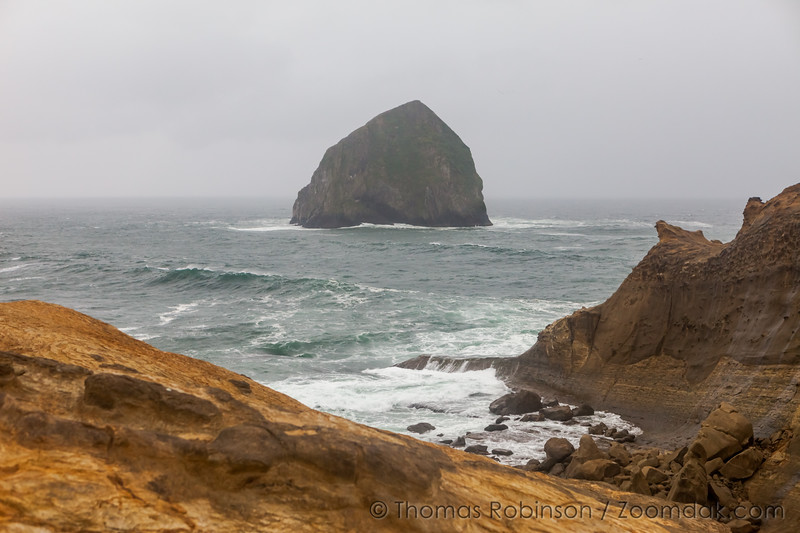 Stormy Haystack Rock, Pacific City