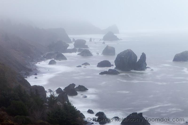 Oregon Coast Seastacks in the Mist