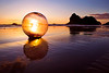 Glass Ball at Sunset, Oregon Coast