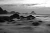 """Black and White Tide"" - Waves roll in near Indian Beach."