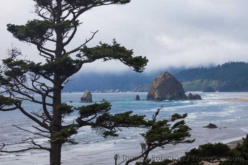 Oregon Coast Seascape: Haystack Rock