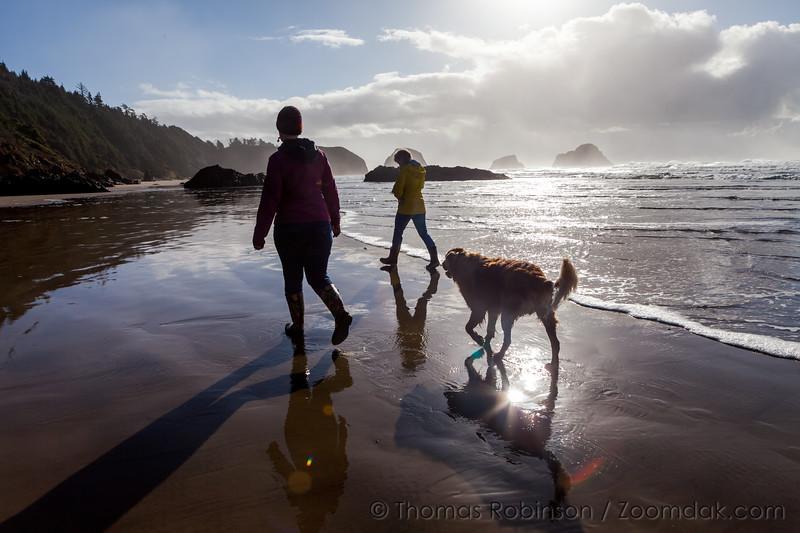 Family Beach Walk