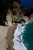 A tidefall - a waterfall that pores onto a beach - called McWay Falls tumbles 80 feet (24 meters) on the beach in Julia Pfeiffer Burns State Park, along the Big Sur coastline in California.