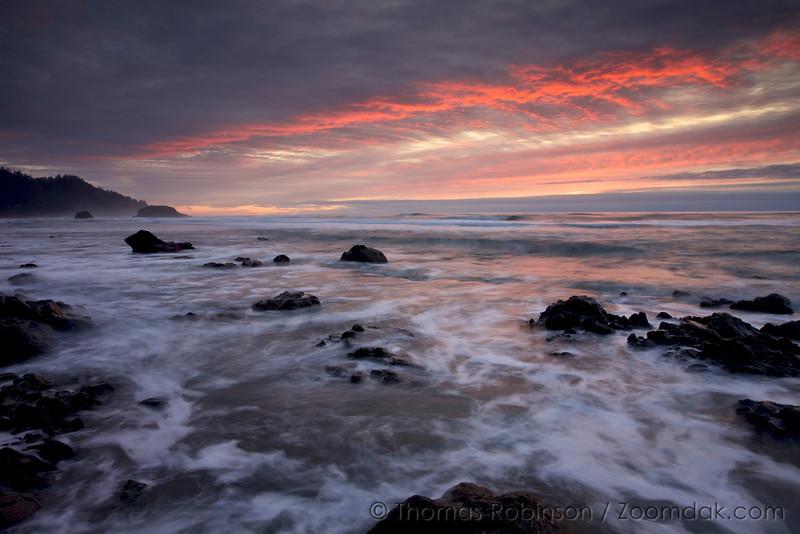 Oregon Coast Sunset, Arch Cape