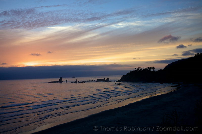 Sunset Over Ecola State Park
