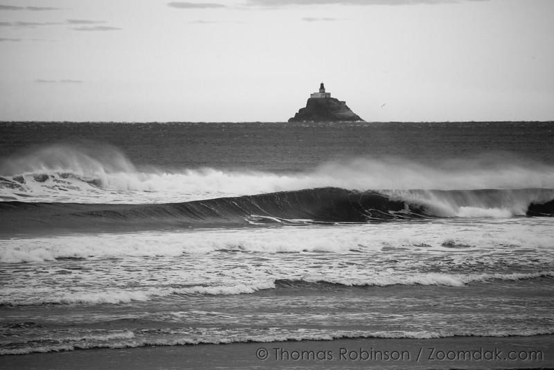 Tillamook Lighthouse and Wave Curl