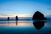 Haystack Rock Blue Sunset